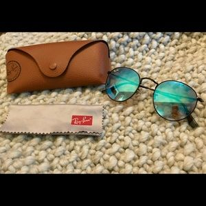 Ray-Ban Round Flash Lenses Gradient- Blue Mirror